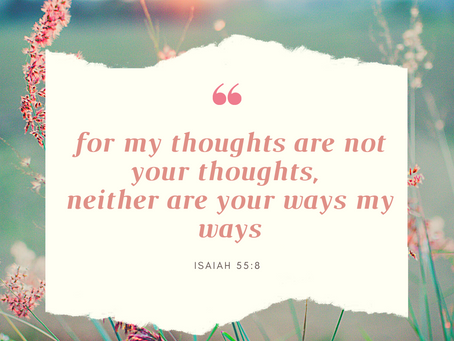 Do you think God might have something different to say about your thoughts?