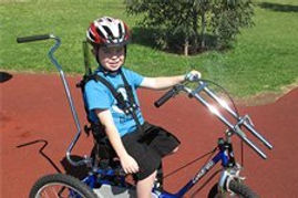 Modified tricycle from Body Cycles, Bike riding physiotherapy, learn to ride a bike, Melbourne, NDIS, Splash Physiotherapy