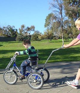 Modified tricycle from Body Cycles , Bike riding physiotherapy, learn to ride a bike, Melbourne, NDIS, Splash Physiotherapy