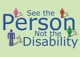 Image 'See the person not the disabilitiy'