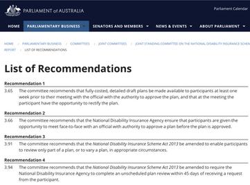 NDIS planning inquiry interim report released