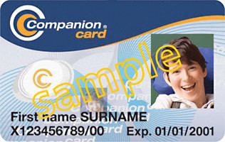 sample companion card