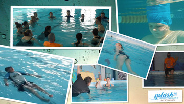 Swimmers with specific learning needs training