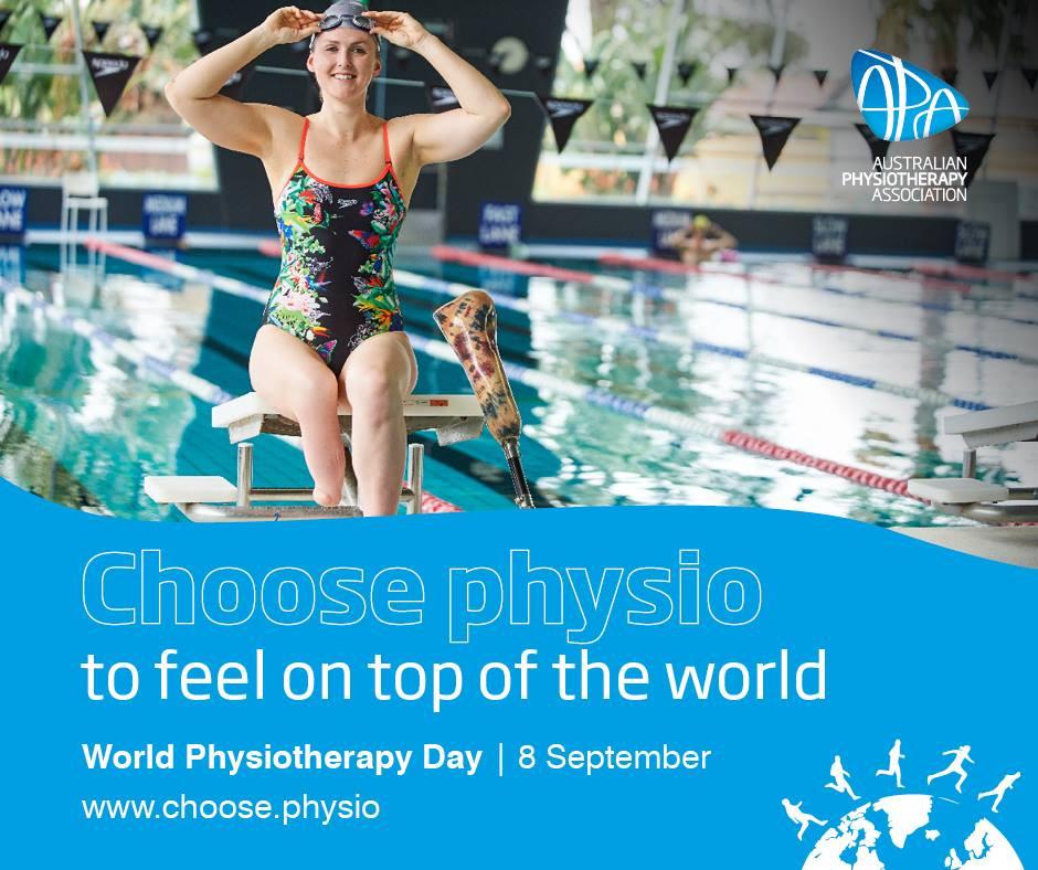Choose physio, swimmer with leg amputation getting ready