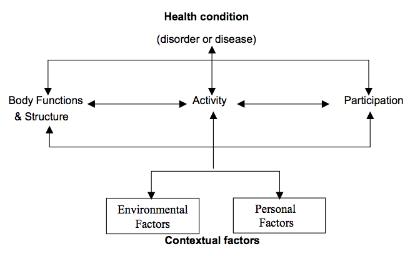 World Health Organisation ICF diagram