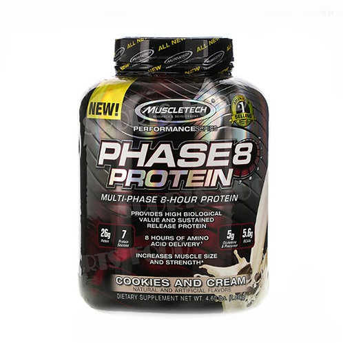 MuscleTech-Phase 8 protein 2 кг - печенье-сливки