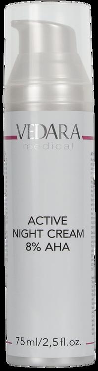Активный ночной крем AHA кислотами 8%