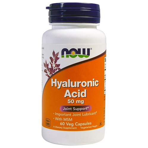 NOW -Hyaluronic Acid 50мг 60 капс