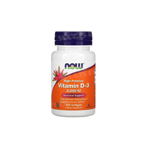 NOW-Vitamin D-3 2000 IU 120 таб