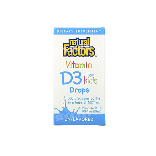 Natural Factors-Vitamin d3  for kids 15 мл