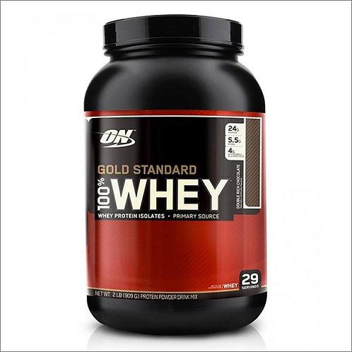 Optimum Nutrition-100% Whey Gold Standard 907 гр - двойной шоколад