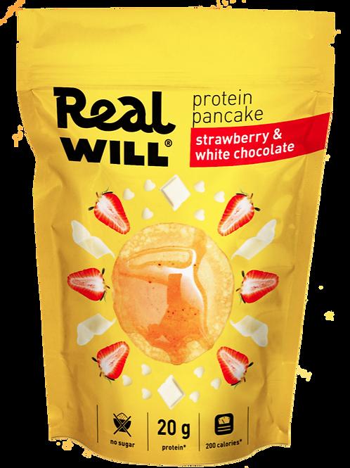Real WILL-Смесь сухая для приготовления блинов 400гр - клубника-белый шоколад