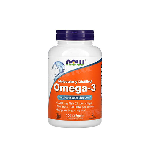 NOW-Omega 3 200  капс