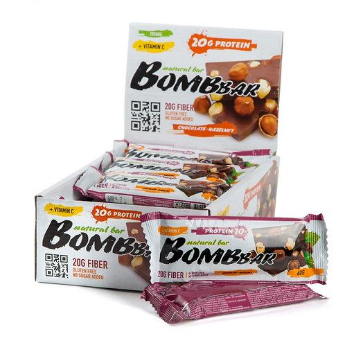 BOMBBAR-Батончик Bombbar 20*60 г - шоколад-фундук