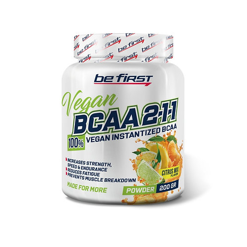 Be First-BCAA 2:1:1 VEGAN instantized powder 200 гр - цитрусовый микс