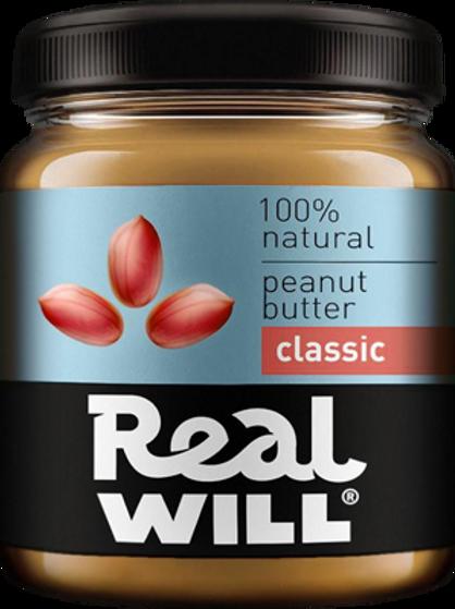 Real WILL-Арахисовая паста классическая 0,3кг