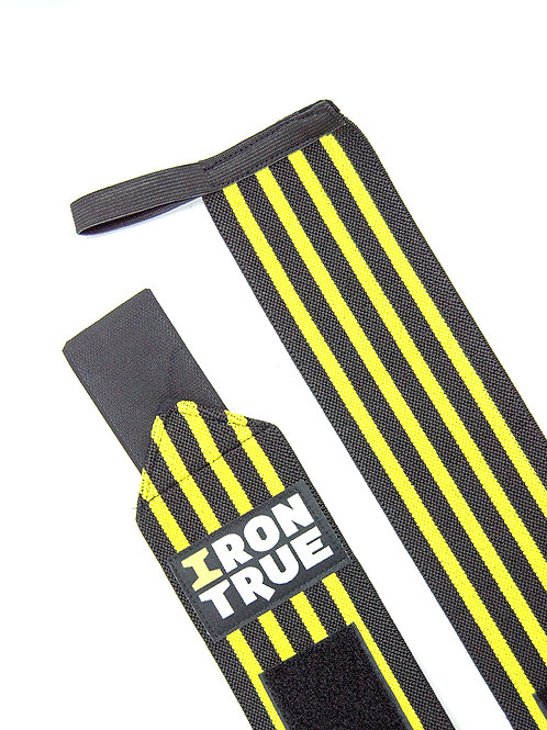 Iron True-Бинт кистевой 50cm IRONTRUE (WS100-50) (Черный-Желтый)