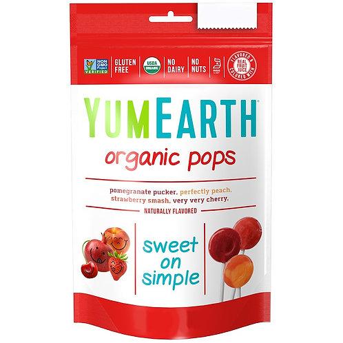 YumEarth-Органические леденцы 7 гр 1 шт - вкус в ассортименте