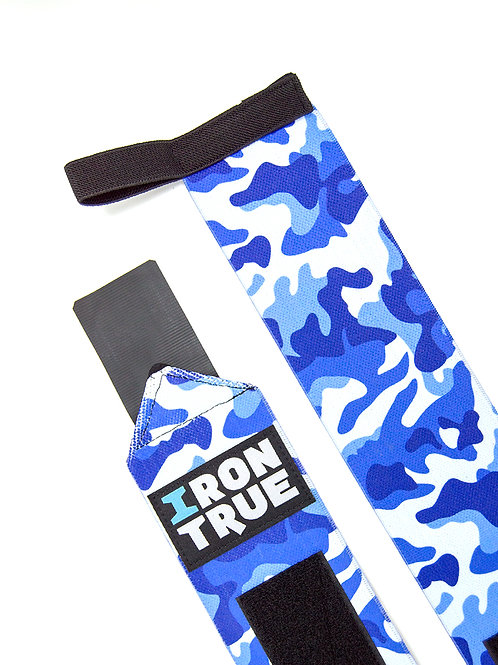 Iron True-Бинт кистевой 50cm IRONTRUE (WS100-50) (Синий камуфляж)