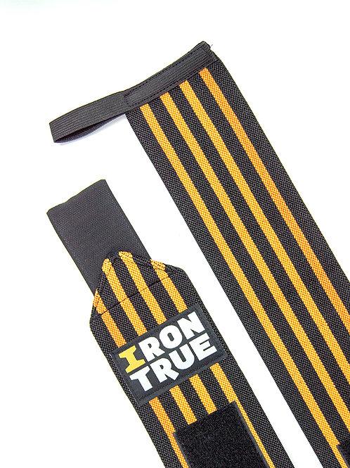 Iron True-Бинт кистевой 50cm IRONTRUE (WS100-50) (Черный-Оранжевый)