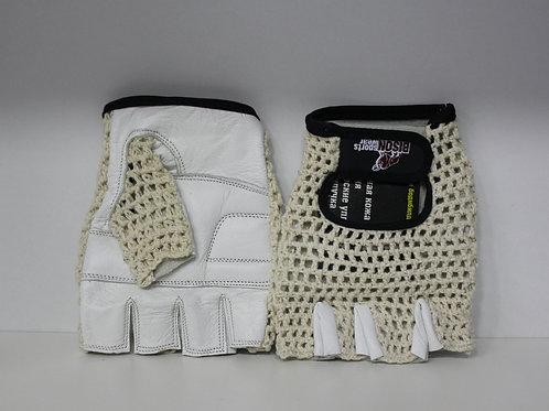 Bison СК-2 белые-перчатки сетчатые белые