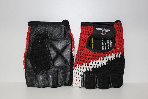Bison СК-1 красно-белые-перчатки сетчатые красно-белые