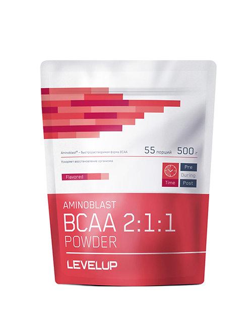 LevelUp-Aminoblast BCAA Powder 500 г - гуарана