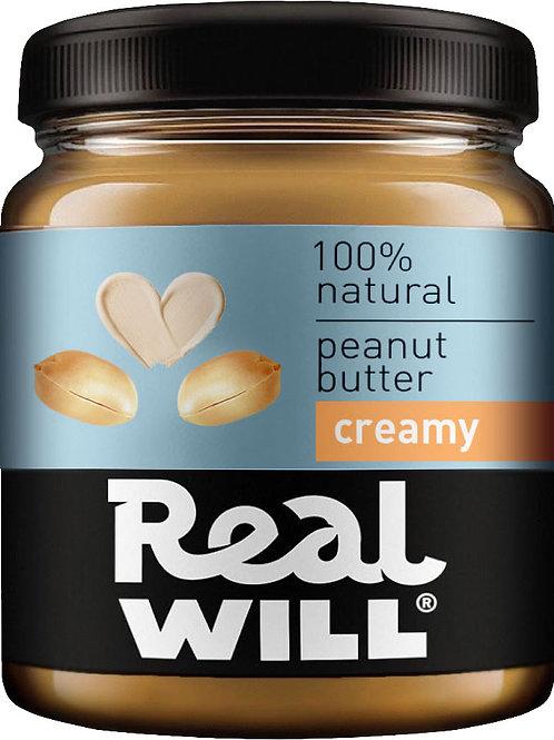 Real WILL-Арахисовая паста кремовая 0,3кг
