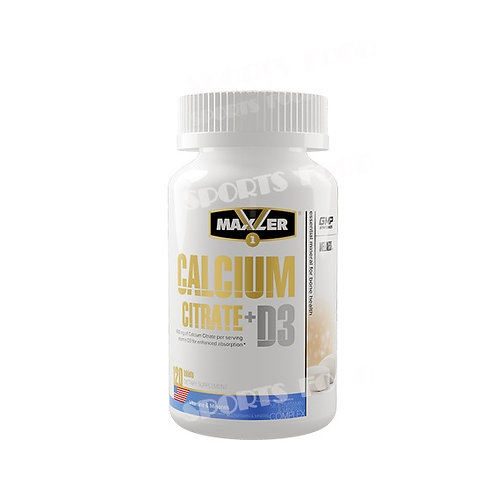 Maxler-Calcium Citrate + D3 120 таб