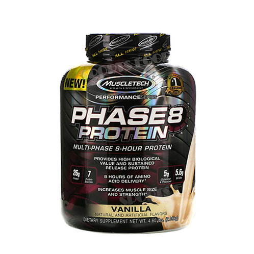 MuscleTech-Phase 8 protein 2 кг - ваниль