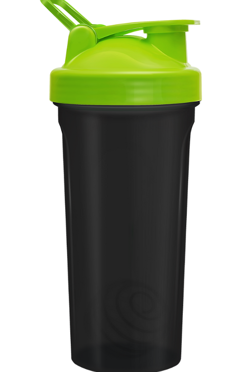 Be First-Шейкер БЕЗ ЛОГОТИПА 600 мл с шариком, черно-зеленый (11356-GREEN-NL)