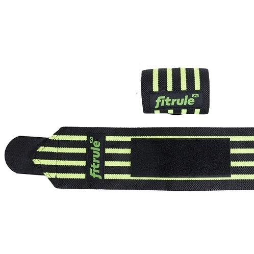 FitRule-бинты кистевые черно-зеленые MEDIUM пара - 50см