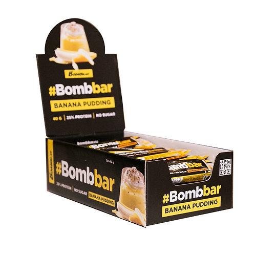 BOMBBAR-Батончик глазированный 30*40 гр - банановый пудинг