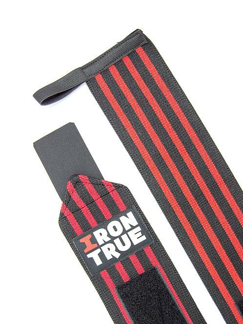 Iron True-Бинт кистевой 50cm IRONTRUE (WS100-50) (Черный-Красный)