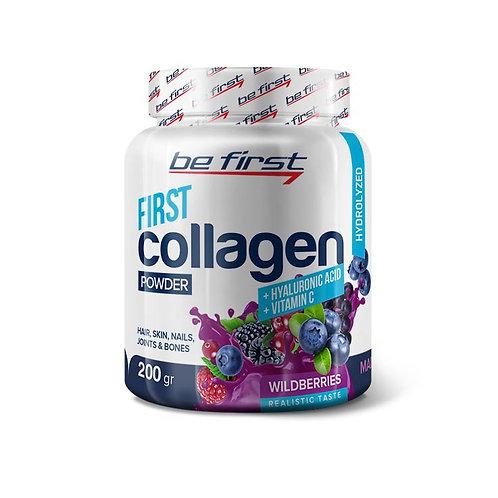 Be First-Collagen/hyaluronic acid /vit C 200 гр - лесные ягоды