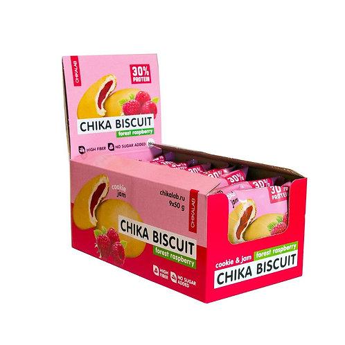 CHIKALAB-Печенье неглазированное с начинкой 9*50 гр - бисквит лесная малина