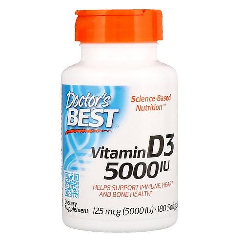 Doctors BEST-Vitamin D3 5000 ед 125 mcg 180 капс