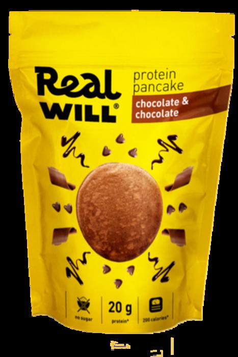 Real WILL-Смесь сухая для приготовления блинов 400гр - двойной шоколад