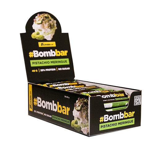 BOMBBAR-Батончик глазированный 30*40 гр - фисташковая меренга