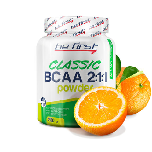 Be First-BCAA 2:1:1 CLASSIC powder 200 гр - апельсин