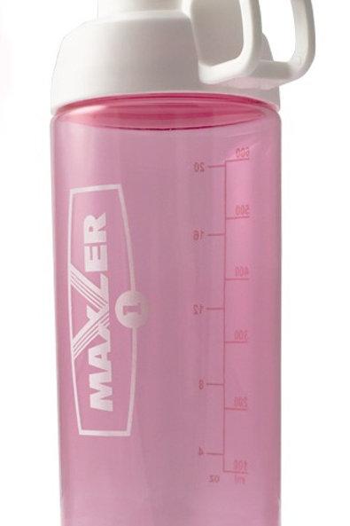 Maxler-Шейкер 700 мл Pro W/lock - белый-розовый