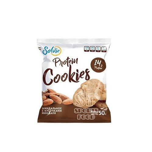 SOLVIE-Protein cookies - миндальное с кусочками миндаля