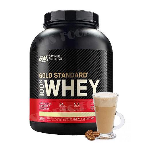 Optimum Nutrition-100% Whey Gold Standard 2270 гр - кофе