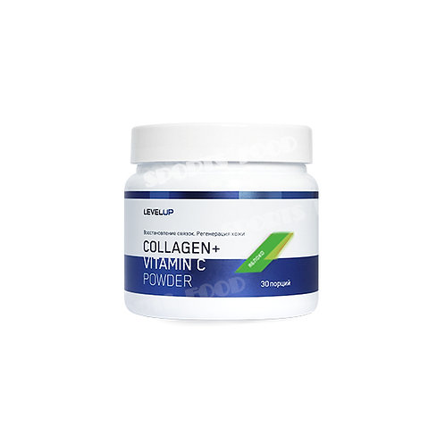LevelUp-Collagen + Hyaluronic Powder 150 г - яблоко