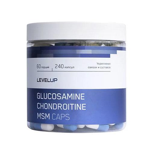 LevelUp-Chondroitine+Glucosamine+MSM 240 caps - без вкуса