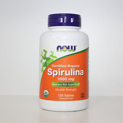 NOW-Spirulina 1000 мг 120 таб