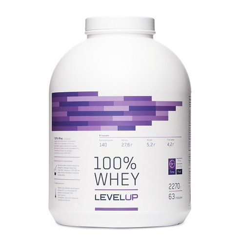 LevelUp-100% Whey 2270 г - банан