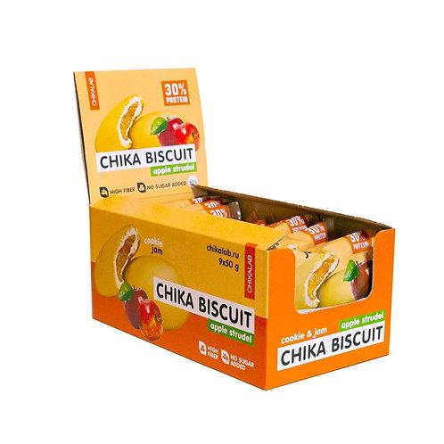 CHIKALAB-Печенье неглазированное с начинкой 9*50 гр - бисквит яблочный штрудель