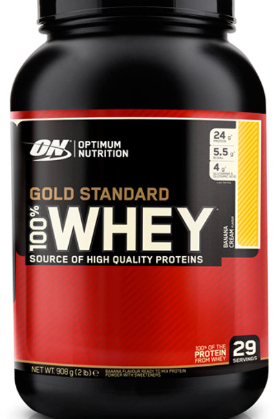 Optimum Nutrition-100% Whey Gold Standard 907 гр - праздничный торт