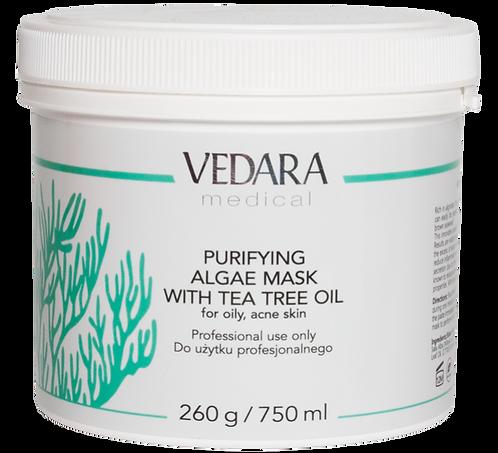 Очищающая альгинатная маска для лица с маслом Чайного дерева